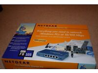 Netgear Fast Network Starter Kit. Boxed and complete.