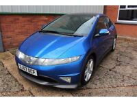 07 HONDA CIVIC 2.2i CTDI TYPE S GT 3DR ++ PANORAMIC ROOF & LONG MOT ++