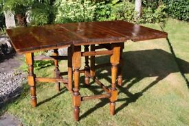 Vintage Pine Gate Leg Dining or Kitchen Table - REDUCED