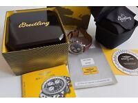 100% Breitling Old Navitimer Accessories Paperwork Box Sale or Exchange Rolex GMT Submariner Daytona