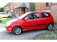 Low Mileage Hyundai Getz 3 door hatchback with FSH, 12 mnth MoT. Two lady owners. VGC throughout