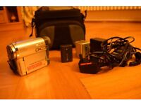 Sony Handycam with cassette and cables