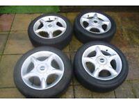 Mini Cooper R50 R52 set of original 16'' alloy wheels