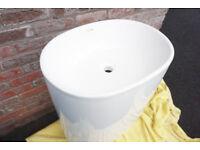 Genuine Duvalli Pedestal Stone Resin Sink Freestanding never used RRP£250