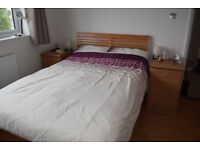 Double bed: bed frame and mattress - great condition