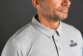 Another usual suspect classic polo shirt in grey email us for more details and website address