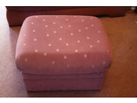 2 Matching G-Plan Sofas and Footstool, Dusky Pink, Really Comfortable and in Great Condition