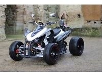 NEW 2017 250CC WHITE ROAD LEGAL QUAD BIKE ASSEMBLED IN UK 17 PLATE OUT NOW! FREE NEXT DAY DELIVERY