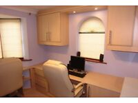 Office furniture, including all cupboards, drawers, cabinets, overhead lights, chairs and carpet