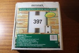 Micromark Mains voltage House Sign Light (Boxed)