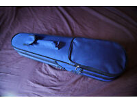 4/4 Full Size Black/Blue Shaped Violin Case