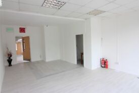A recently refurbished shop located in a busy location with 2 studio flats...