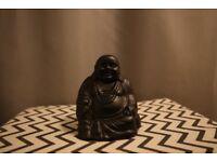 Black Porcelain Sitting Buddha Figure