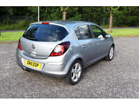2011 Vauxhall Corsa 1.2 petrol SXi 5 door, silver, 2 owners, FULL SERVICE HISTORY