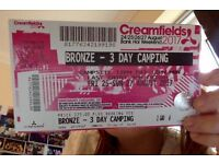 Creamfields Bronze 3 Day Camping