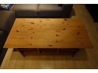 Cheap Vintage Solid-Wood Coffee Table with 3 baskets, QUICK SALE
