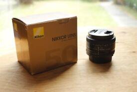 Nikon 50 1.8D Lens