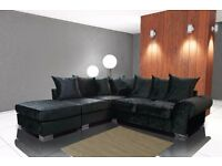 FREE DELIVERY ON OUR BRAND NEW SOFA RANGE**ROYAL CRUSHED VELVET SOFA**VARIOUS SHADES AVAILABLE