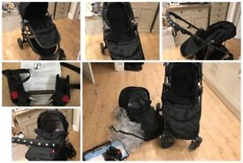 Baby jogger city versa Travel system pram with the Car adapters and rain