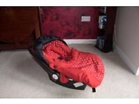 Red Dot Pram/Buggy & Car Seat