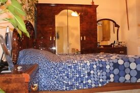 Italian Furniture Bed and Bed set for bedroom. wardrobe, mirror, dressing table, draws!