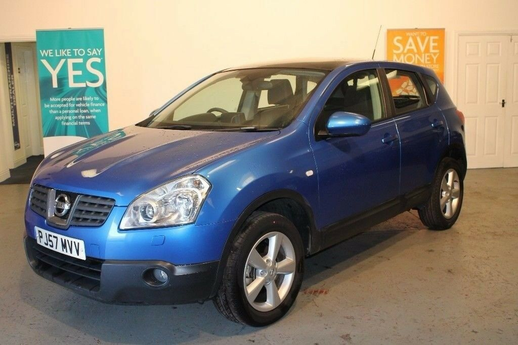 2007/57 NISSAN QASHQAI 1.5 DIESEL TEKNA 2 WD , PRESENTED IN STUNNING DEEP BLUE PEARL , BE QUICK