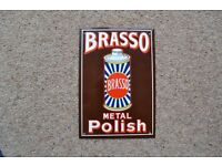 METAL WALL PLAQUE - BRASSO METAL POLISH IN EXCELLENT CONDITION