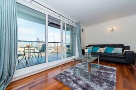 Stunning 2 bed apartment on the 4th floor saught after residential development, Canary wharf-T