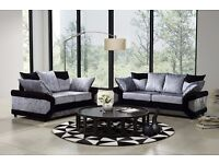 3 AND 2 SEATER SOFA Crushed Velvet SOFA-- BOTH LEFT AND RIGHT HAND SIDE AVAILABLE IN STOCK