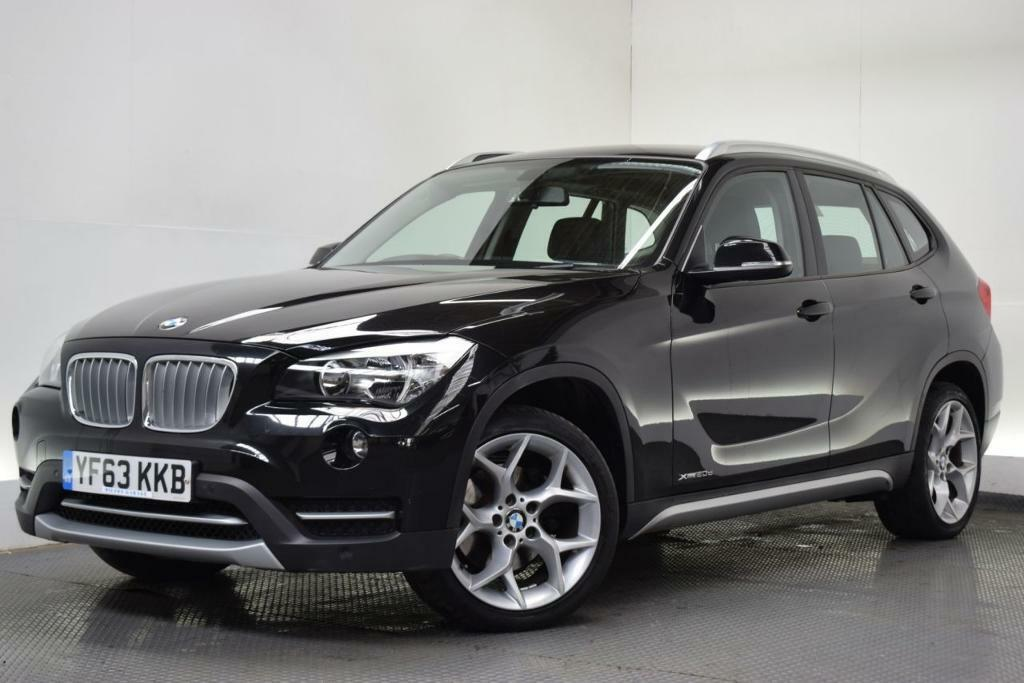 bmw x1 2 0 xdrive20d xline 5d auto 181 bhp black 2013. Black Bedroom Furniture Sets. Home Design Ideas