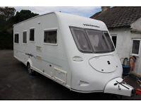 Fleetwood Vanlander 2007 4 Berth Fixed Twin Single Beds Caravan + Motor Movers