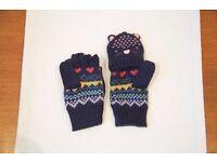 Girls John Lewis Gloves 2-4 years