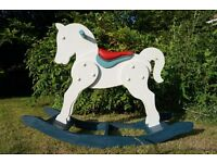 Beautifully restored Rocking Horse - painted and waxed using Annie Sloan