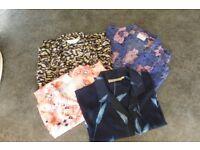 Ladies short sleeved Print Blouses