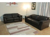 Ex-display Natuzzi Sensor brown leather electric recliner 3+2 seater sofas