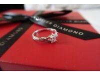 The Forever Diamond Ring - 18ct White Gold, 73 Facet Diamond - BRAND NEW!