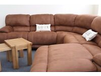 New Large Suede Corner Sofa