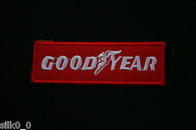 ECUSSON Brodé - PATCH Thermocollant - GOODYEAR / 7,5x2,5cm / ROUGE / RACING