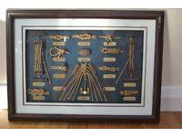 Rope Knot Board Display with Nautical Memorabilia