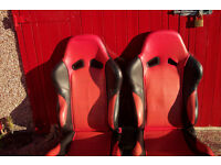 MAZDA MX5 RED LEATHER SEATS