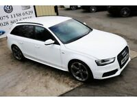 2012 AUDI A4 2.0 AVANT TDI S LINE BLACK EDITION 141 BHP *SPECIAL EDITION* (FINANCE & WARRANTY)