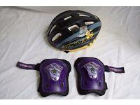Childs Bicycle Helmet & Knee Pads