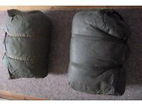 Sleeping bags ex military