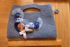 Cashmere felt bag