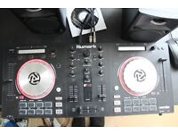 numark mixtrack pro 3 with speakers and headphones