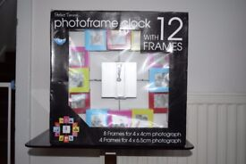 Photo 12 Frame Clock - New and Boxed