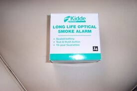 Kidde Long Life Optical Smoke Alarm, Sealed battery, New and Boxed with all instructions.