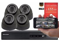 4 CCTV Cameras Full HD 1080P Clear Image Night Vision Installation and Free Setup for Remote Viewing