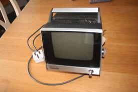 Old Sony portable black & white transistor TV