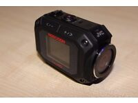 JVC action camera, gc-xa2, excellent condition + sandisk extreme 64gb 80mb/s